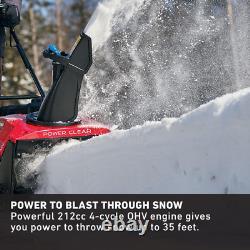 Power Clear 721 R-c 21 In. 212 CC Commercial Mono-stage Automoteur Gaz Sno
