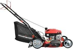 Powersmart Db8621s Gaz Tondeuse 21 Po. 3-in-1 Autopropulsés Walk Behind Herbe