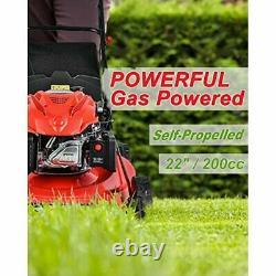 Powersmart Db9422sr 22 3-en-1 Tondeuse À Gaz Autopropulseuse