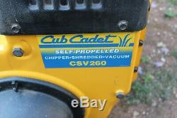 Réel Cub Cadet 9 Chevaux Autopropulsé Chipper Shredder Feuille Vacaum Csv260