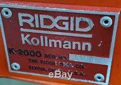 Ridgid K-2000 Moteur À Essence Moteur Automotrice Deboucheurs D'égout Serpent K-1500