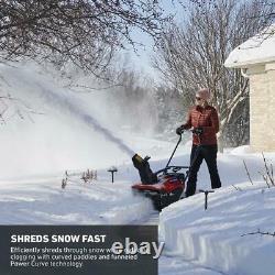 Toro Autopropulsed Snow Blower Electric Gas Roues À Un Étage Barre De Poignée
