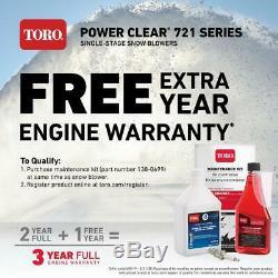 Toro Power Clear Gaz Souffleuse À Neige Seule Étape Autopropulsés 721 R 21 Dans 212 CC