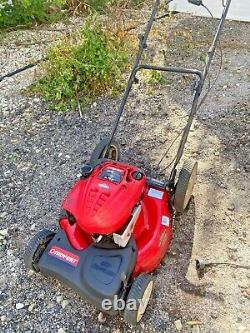 Troy-bilt 21 Briggs Stratton Gas Auto-propelled Mower 1 Démarrage Pull Works Great