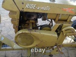 Vintage 1961 Bolens 233 Ride A Matic Avec Snow Blade & Souffleuse Versa Trac
