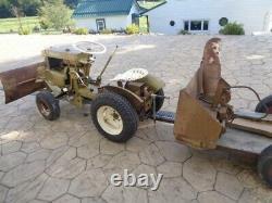 Vintage 1961 Bolens 233 Ride A Matic Lawn & Garden Tractor, De Nombreuses Pièces Jointes